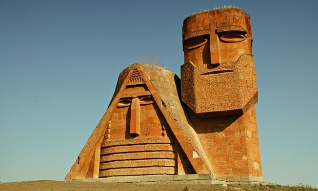 'We Are Our Mountains' monument north of Stepanakert, Nagorno-Karabakh (Artsakh) Republic