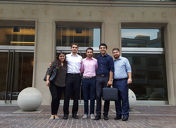 Shaunt Tchakmak and the ANCA LSI 2015 team in front of the Brookings Institution