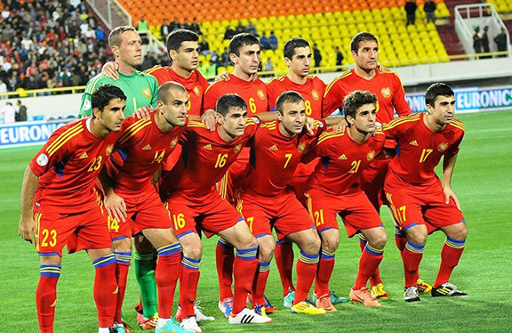 The Armenian National Football Team in 2013 (Source: Massis Post)