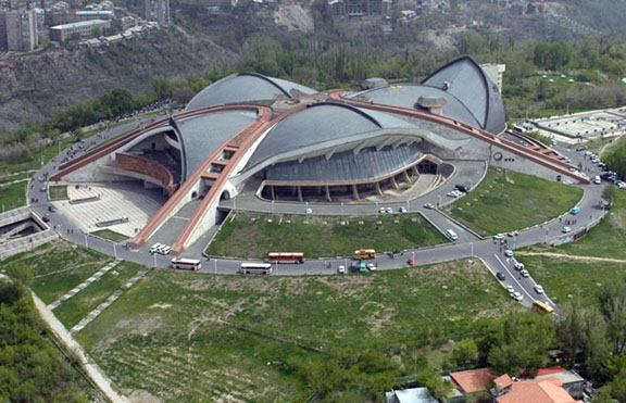 """The Karen Demirchyan Sports and Concerts Complex, also known as """"Hamalir"""" (Source: Photolure)"""