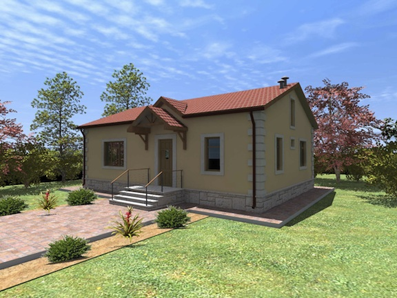 """A rendering of a house that will be built as  part of the """"Our Home"""" campaign"""