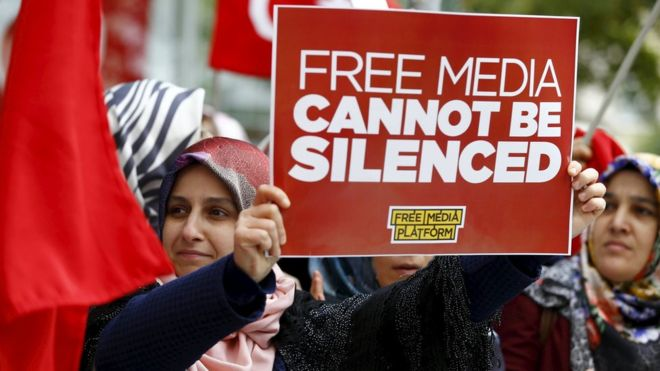 The European Commission says criminal cases against journalists have curtailed media freedom (Source: Reuters)