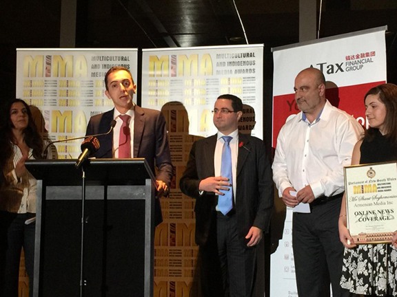 Armenia Media. Inc. (Australia) wins at the New South Wales Multicultural and Indigenous Media Awards (Source: Public Radio of Armenia)