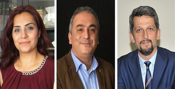 From left: Selina Ozuzun Dogan from the Republican People's Party (CHP); Markar Esayan from the ruling AKP party and Garo Paylan from the pro-Kurdish HDP