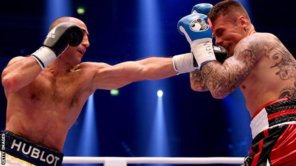 WBO super iddleweight champion Arthur Abraham (left) defeated Martin Murray (Source: Getty Images)