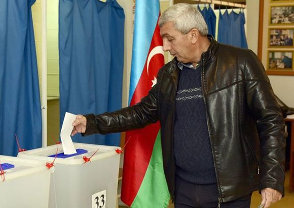 President Aliyev's ruling party is expected to retain its majority (Source: AFP)