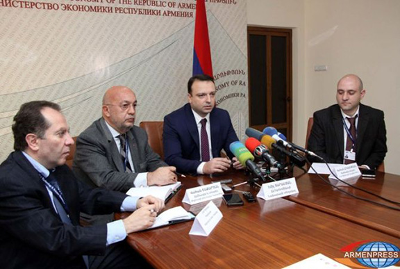 Armenian representatives meets with delegates of European IT companies during a month-long tour of Europe (Source: Armenpress)