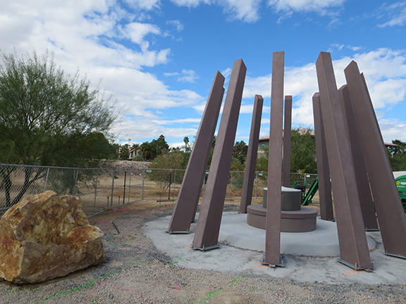 The monument will be unveiled on Saturday, November 14