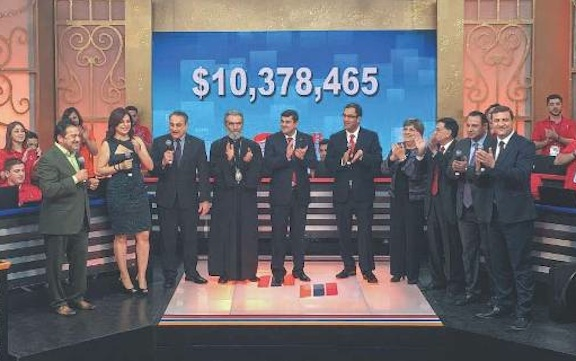 At the conclusion of the 12-hour telethon more than $10 million was raised