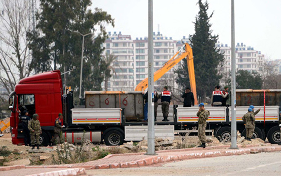 Syria-bound trucks operated by MIT were searched in January 2014 after prosecutors received tips that they were illegally carrying arms to Syria (Source: DHA)