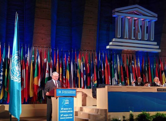 Armenian Foreign Minister Edward Nalbandian addresses the 38th session of UNESCO (Source: Public Radio of Armenia)