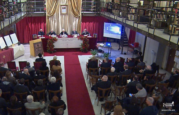 A new seven-volume set of documents from Vatican archives on the Armenian Genocide is presented in Rome (Source: Foreign Ministry of Armenia)