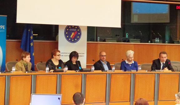 """The panelist of the """"Journalists' Eyewitness Accounts in Armed Conflicts: The Case of Nagorno-Karabakh""""  hearing at the European Parliament"""