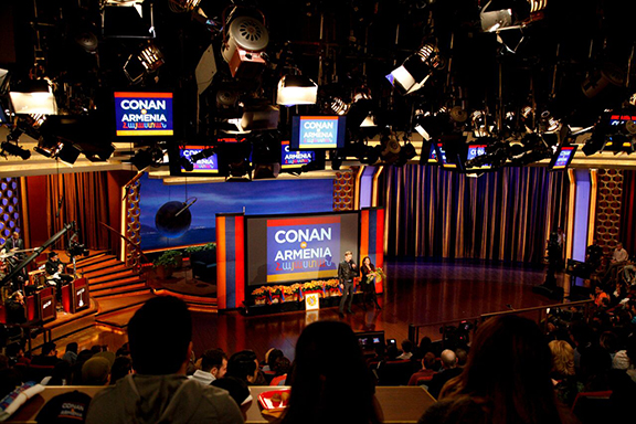 The set of the upcoming Conan episode in Armenia, airing on Tuesday, November 17.