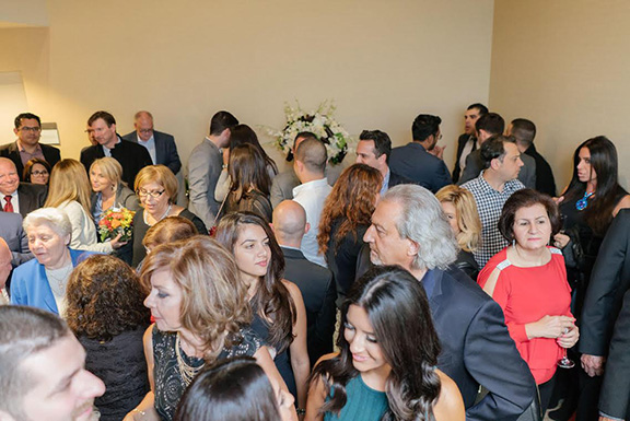 Guest and patients during opening reception