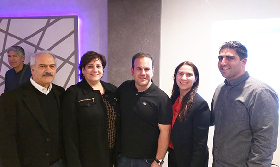 ANCA-WR Board and Advisory Board members with newly-re-elected city councilman Jack Hadjinian following his win