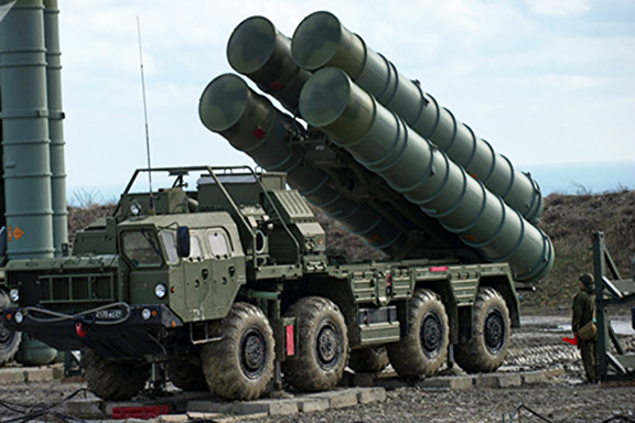 Russian S-400 air defense systems. Turkey has purchased four
