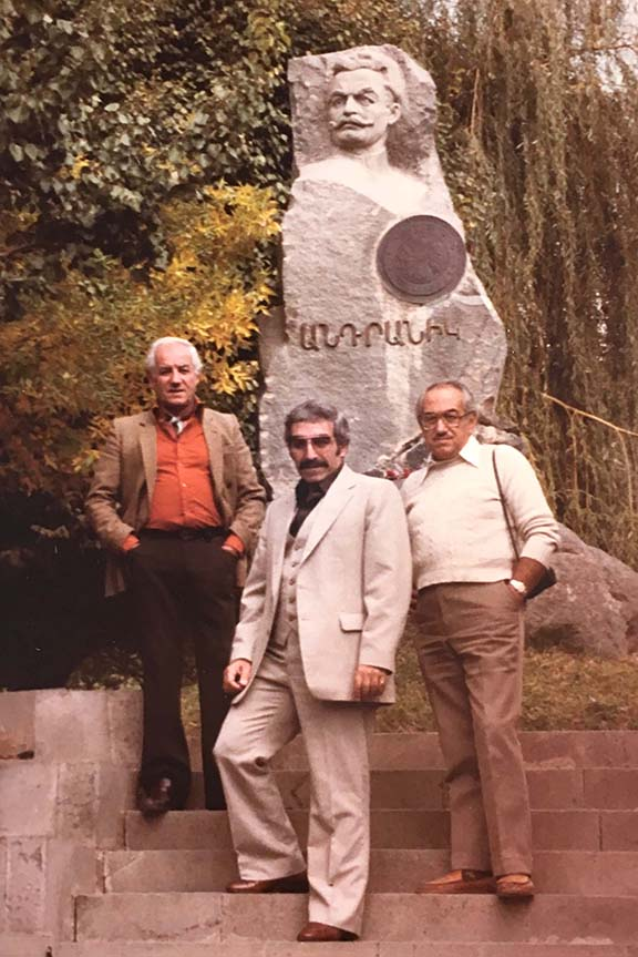 Papken Sassouni with his brothers at General Antranig's memorial