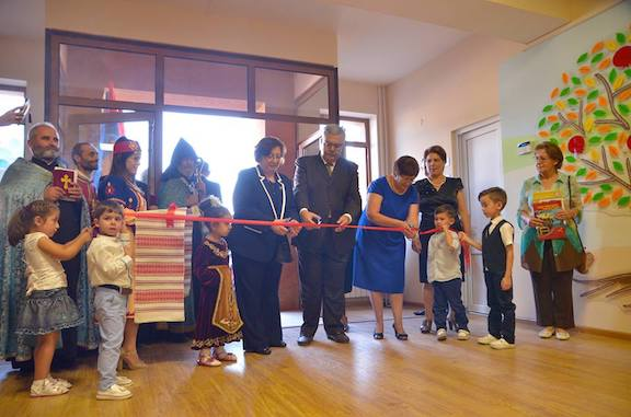 The ribbon-cutting of the newly-renovated Soseh Kindergarten