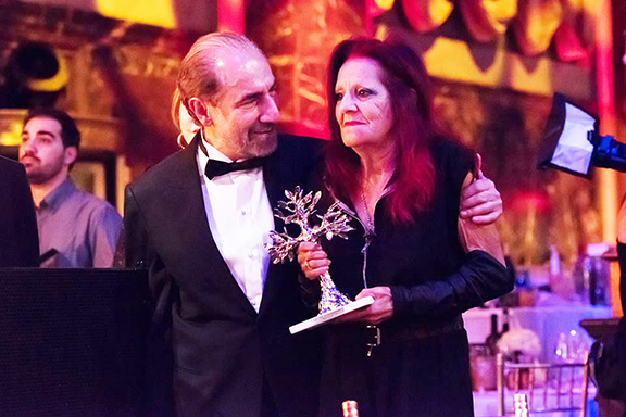COAF founder and chairman Dr. Garo Armen with the evening's honoree fashion icon Patricia Field
