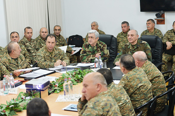 The presidents of Armenia and Artsakh met to discuss combat readiness of Armed Forces
