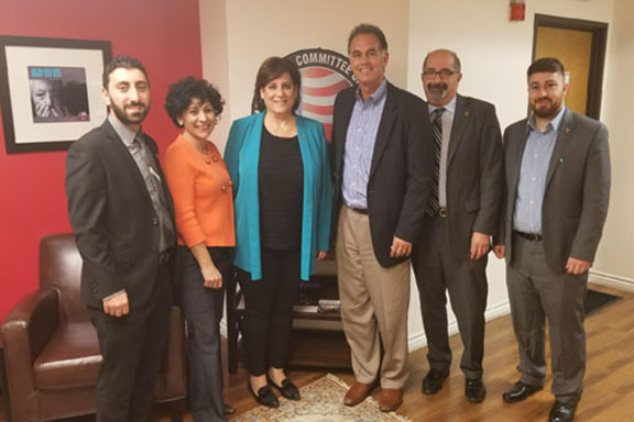 Danny Tarkanian with the ANCA-WR Board and staff members