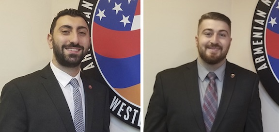 Serob Abrahamian (left) and Dickran Khodanian have joined the staff of ANCA-WR