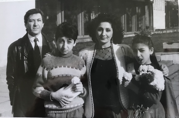 Sergey Agababyan with his family in Baku