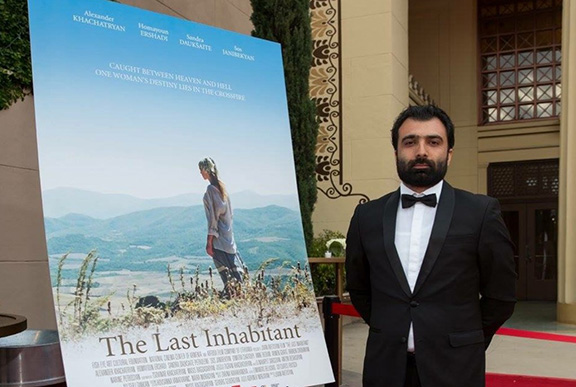"""Director Jivan Avetisyan at the premiere of """"The Last Inhabitant"""" at the Venice International Film Festival in September"""