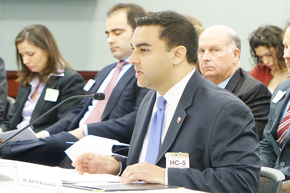 ANCA Government Affairs Director Raffi Karakashian submitted testimony to the Senate Appropriation Subcommittee on State-Foreign Operations