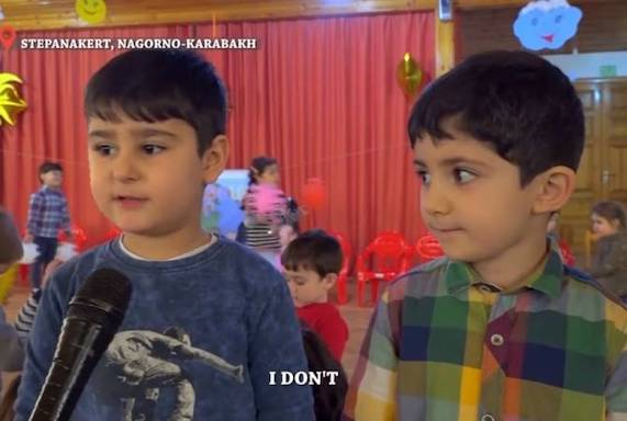 """""""You are not my enemy. I am not your enemy,"""" say children from Artsakh"""