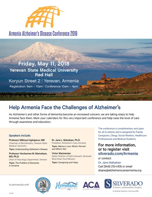 Alzheimer's Care conference to be held in Armenia