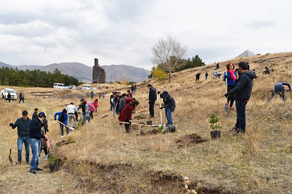 ATP is hosting a reception at Oak and Vine in Glendale on April 12 to benefit its tree planting programs at the Bash Aparan Monument (pictured) and the final resting place of national hero General Dro.