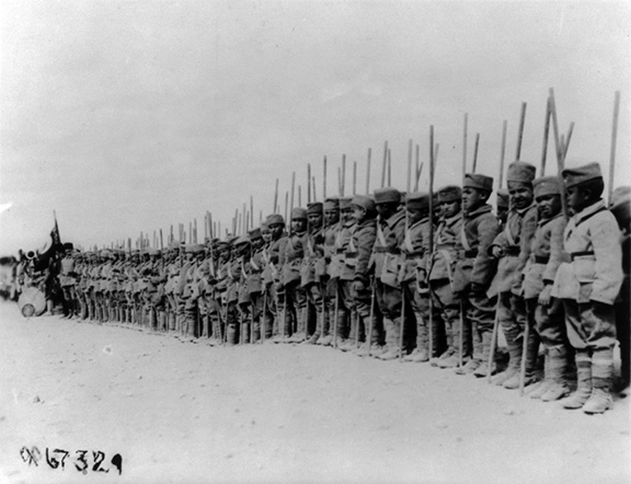 Armenian boys who were orphaned due to the Armenian Genocide were conscripted into the Turkish army by Kazim Karabekir to fight against Armenia during the Turkish-Armenian War of 1920. This photograph was taken during the American Military Mission to Armenia (1919) led by General James G. Harbord (Photo: U.S. Library of Congress/Public Domain)
