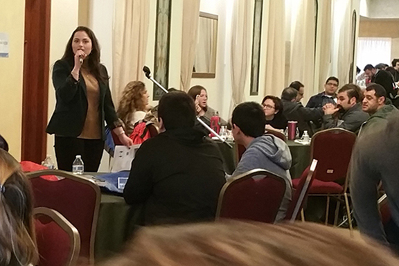Dr. Christina Ashjian addressing the audience at Reclaim Conference