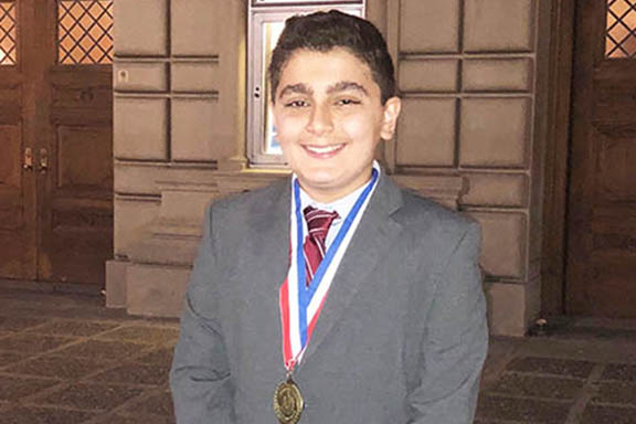 Daron Yacoubian with his first-place medal