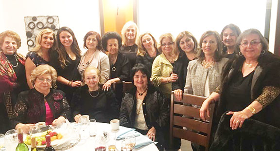 Long-time ARS Javakhk Fund leader and benefactor Haigoush Kohler (seated front center) and ARS members
