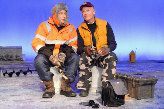 """Barry Heins and Don Fischer in """"Nice Fish,"""" directed by Rob Brownstein and Anita Khanzadian. (Photo by Ed Krieger)"""
