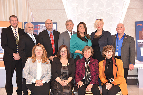 The 11 honorees at the Armenian Genocide Education Awards Luncheon