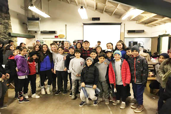More than 130 AYF Juniors converged on AYF Camp for a winter getaway