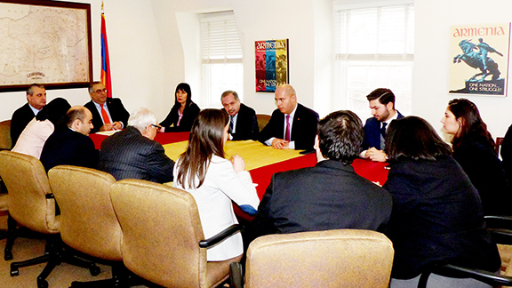ANCA briefing with Armenian Parliamentary delegation members kicking off a week-long series of meetings and events in Washington
