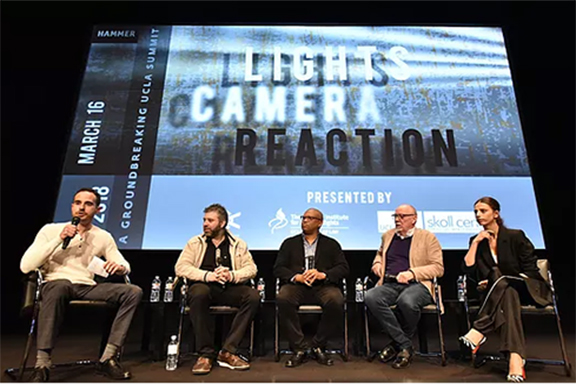"""Panel participant during the """"Lights, Camera, Reaction"""" summit"""