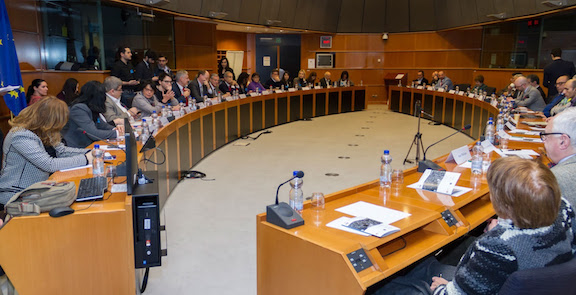 A scene from the conference at the European Parliament