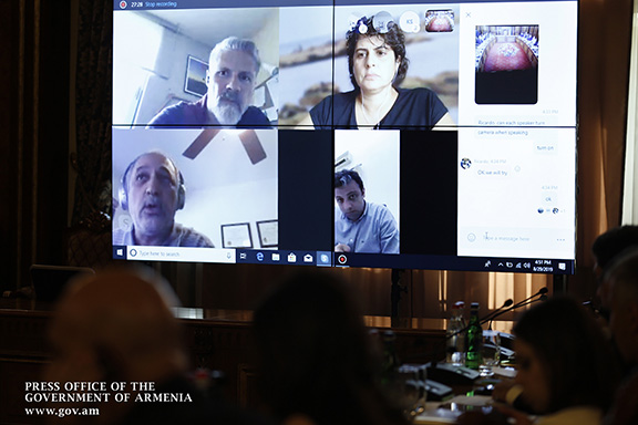 Lydian and ELRAD officials during a Skype meeting with the Armenian government on Thursday