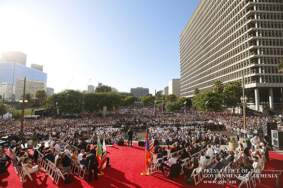 The Los Angeles Fire Marshal estimated the crowd to be at 18,000 on Sept. 22 at Grand Park