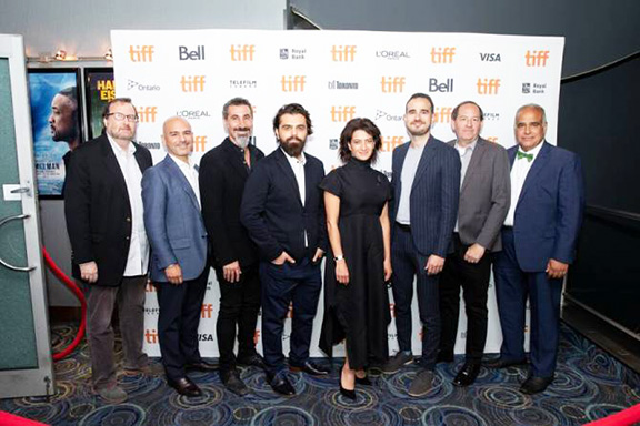 """Anna Hakobyan, the spouse of Prime Minister Nikol Pashinyan, was among those who attended the world premiere of """"I am Not Alone"""""""