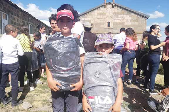 AEF's SSP provides schol supplies for students in Armenia, Artsakh, and Javakhk