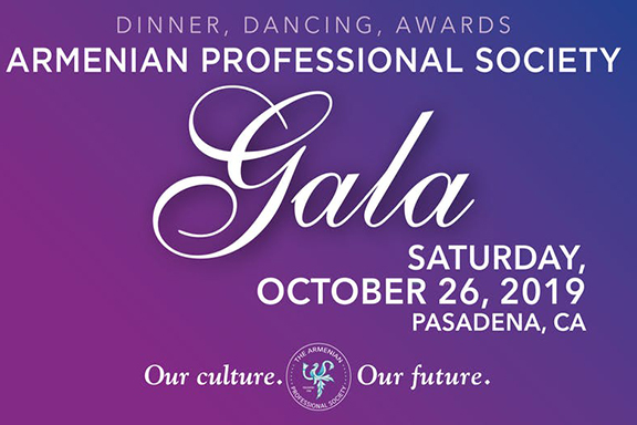 The Armenian Professional Society's gala will be held on October 26