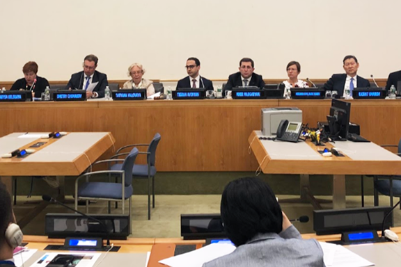 """A scene from the panel hosted by the Mission of Armenia titled """"Investing into Climate Smart Economies: Energy Efficiency for Sustainable Development Goals"""""""