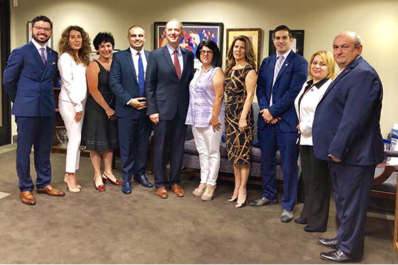ANCA-WR as well as Glendale, Burbank, Hollywood, and Crescenta Valley chapter representatives met with Congressman Adam Schiff